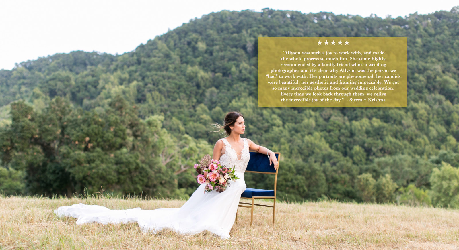 bride portrait in paso robles field
